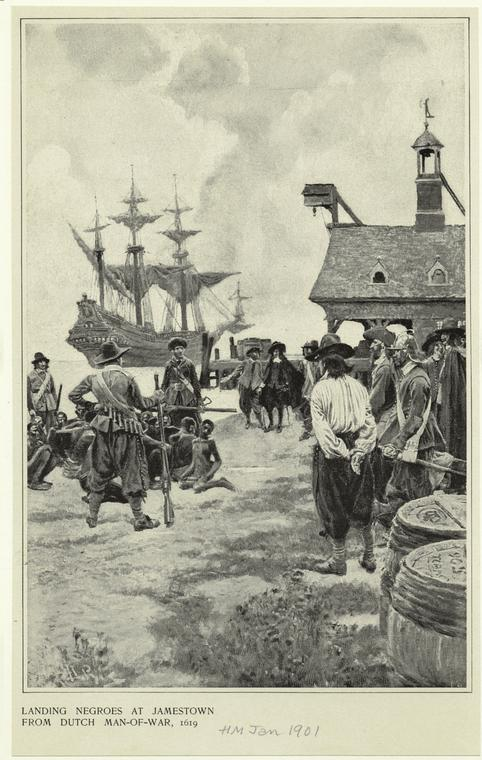 The Arrival of African slaves in 1619